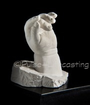Bodycasting of baby's hand