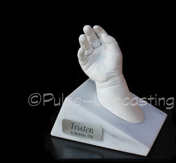 Lifecast of baby's hand
