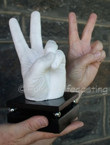 Lifecast Hand Peace Sign