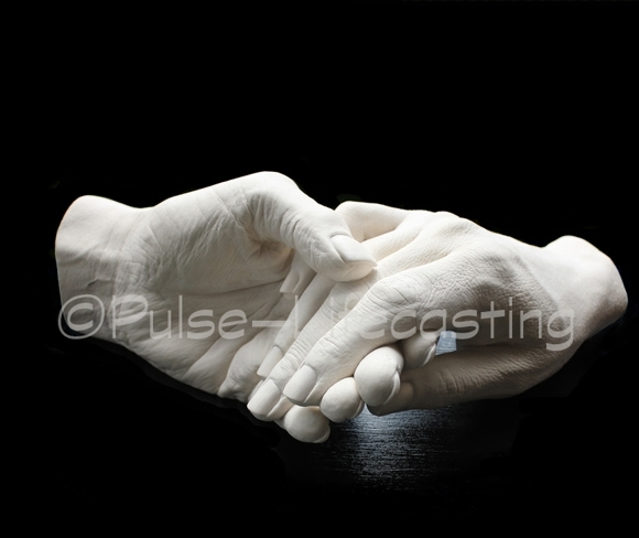 Lifecast of sister's hands
