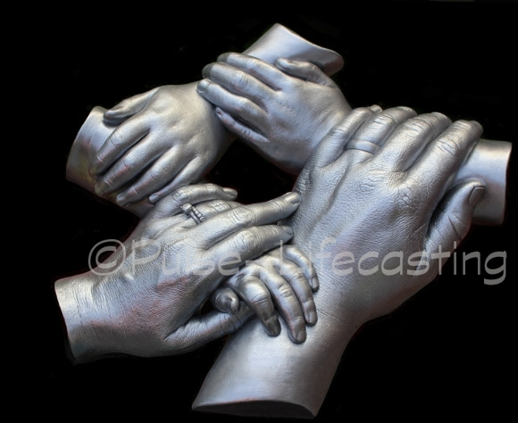 Family cast of 5 hands